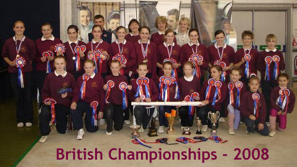 Wee County Vaulters at the British Championships 2008.
